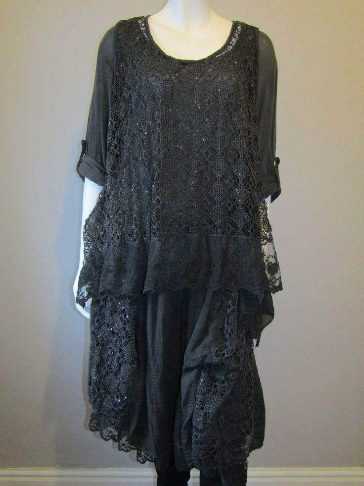 Lagenlook dress black 7690
