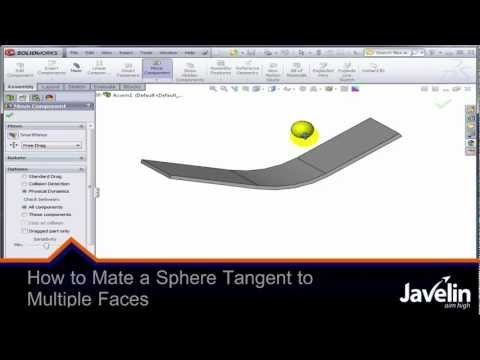Trying to make a sphere to ride on multiple tangent faces is not as easy as it looks, but it can be done in SolidWorks.
