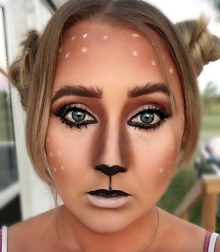Easy deer Halloween makeup                                                                                                                                                                                 More