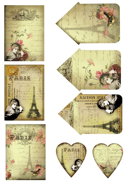 ATCs and heart tags. Free for personal use