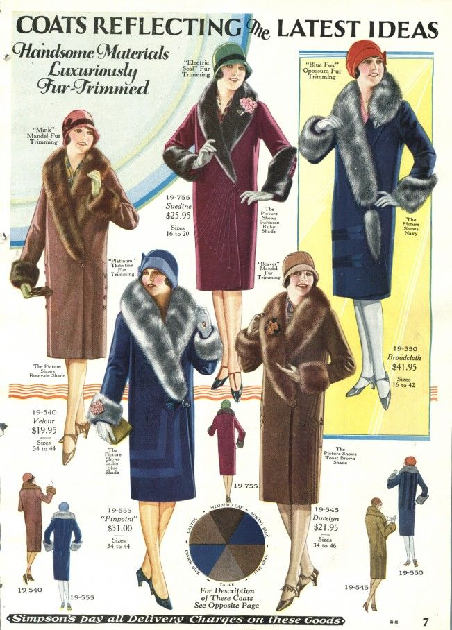 1920s coats womens fur collar