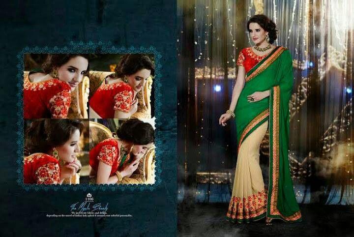 Stunning velvet blouse designer saree on sale now