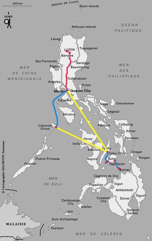 Itinéraire conseillé aux Philippines - Notre circuit - Jaiuneouverture