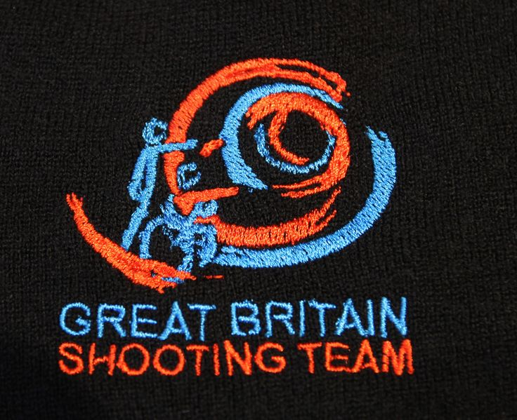 Something Personal Ltd in Maidenhead produced embroidered team uniform for the Great Britain Shooting Team.