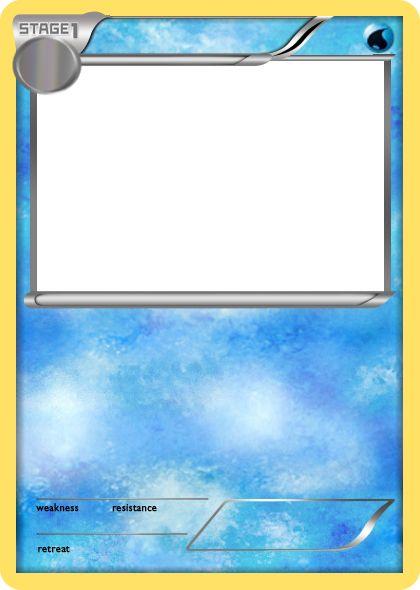 Blank Fire Pokemon Cards Blank Pokemon Card