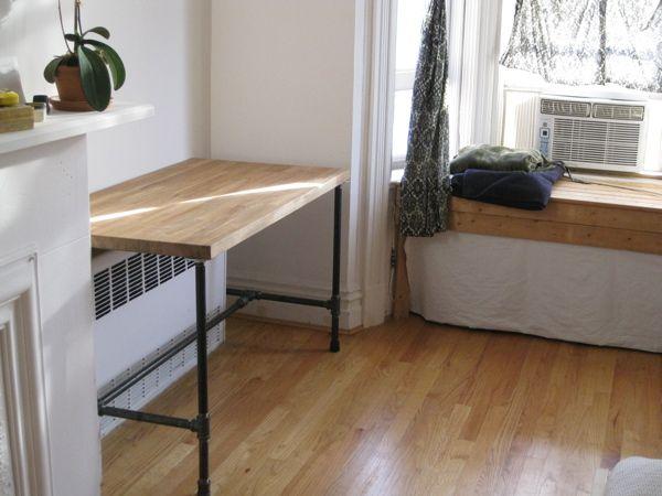Ikea numerar pipe desk for the home pinterest for Diy ikea desk