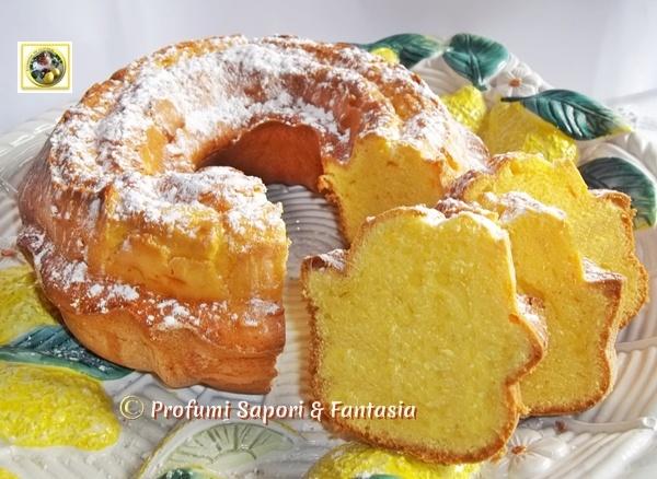 Ciambella soffice al mascarpone ricetta dolce  Blog Profumi Sapori  Fantasia