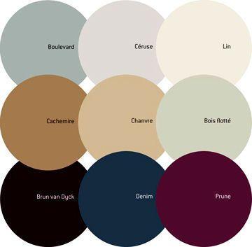 Appartement ancien : quelle peinture et quelles couleurs pour le relooker - CôtéMaison.fr nuancier tollens