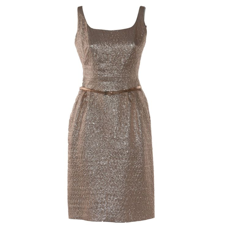 Dress for Women, Evening Cocktail Party On Sale, Grey Pearl, Silk, 2017, 10 6 8 Prada