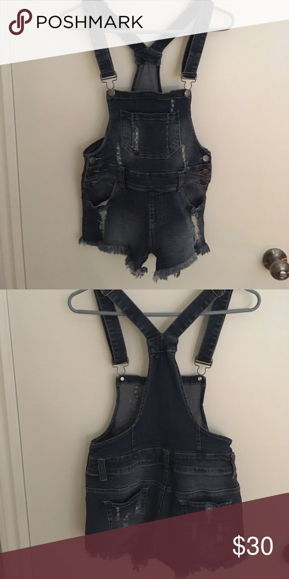 Women's overalls Women's denim overalls, bought at a boutique. Worn once, great condition, super cute! The color is a light blue, not dark like it is in the pictures. Other