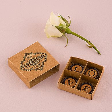 LOVE Vintage Typewriter Key Magnets with Gift Packaging Wedding Favor