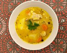 How to make the best Jamaican Chicken soup with dumplings by Gourmetcentric!