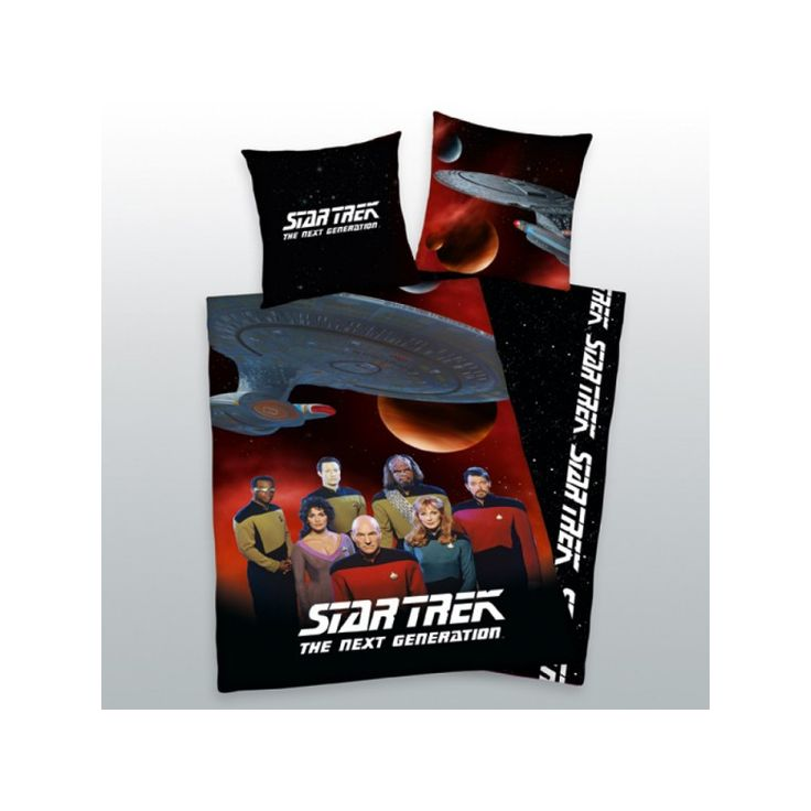STAR TREK ÚJ GENERÁCIÓ 2 részes ágynemű-garnitúra 135x200+80x80 cm, Díszpárna.com Webáruház