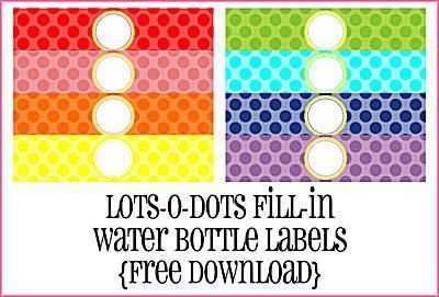 Print Your Own Water Bottle Labels with These 5 Free Sets of Designs: Create Your Own Custom Water Bottle Labels at Piggy Bank Parties