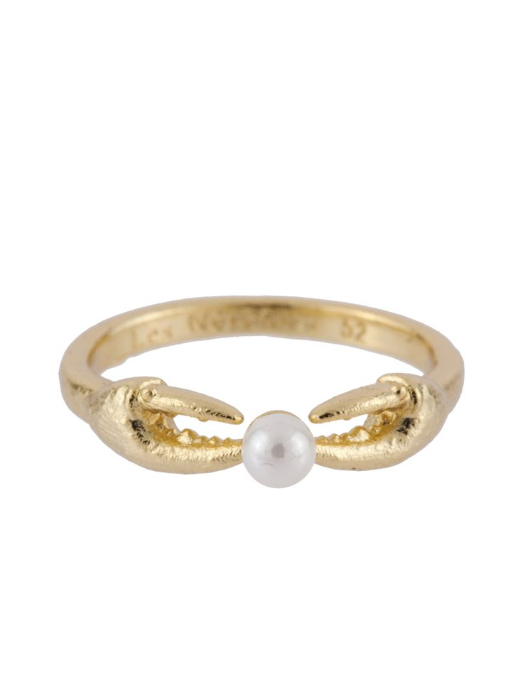 ATLANTIDE CRAB'S PINCERS AND PEARL RING - Les Néréides