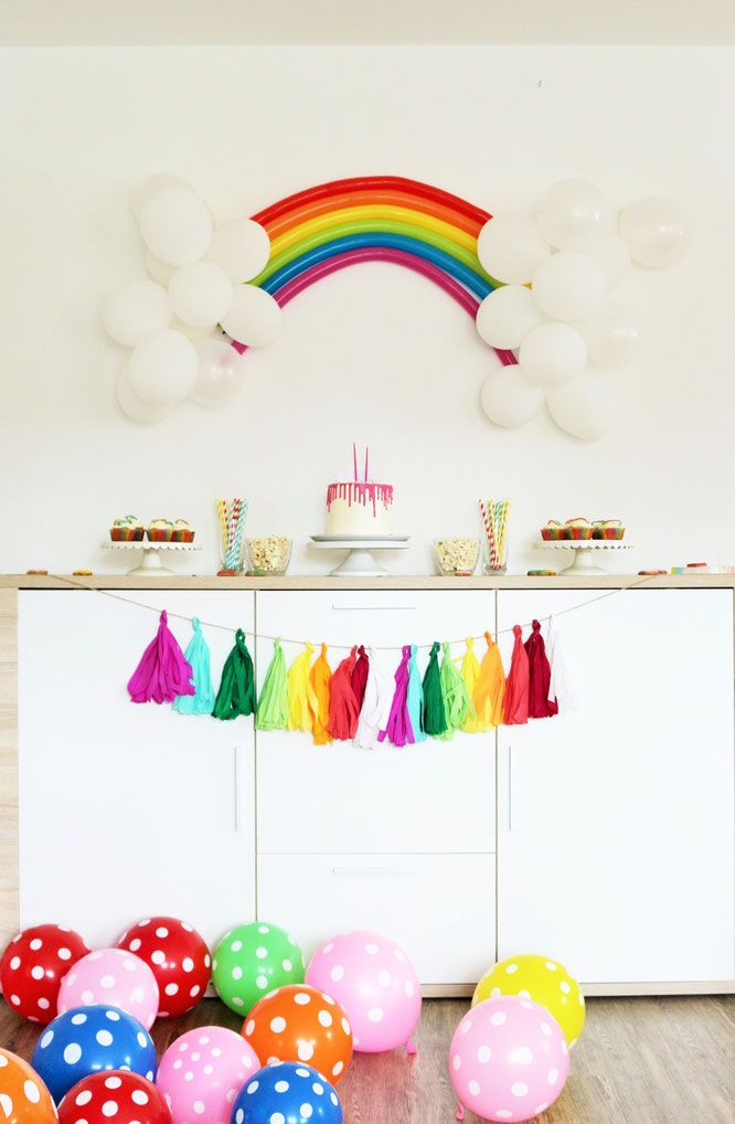 Regenbogen Party Ideen Taufe Regenbogen Diy