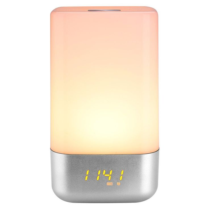 Mabor Bedside Lamp Wake Up Light Alarm Clock with Sunrise Simulation, 5 Natural Sounds, Touch Sensor Multicolor Night Light- $34.99 & FREE Shipping