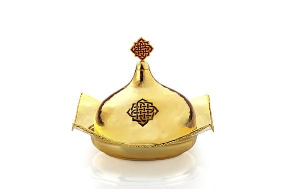 DECORISTAN Gold-plated Plate with Chorushuh