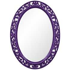 "Howard Elliott Suzanne 27"" x 37"" Royal Purple Wall Mirror"
