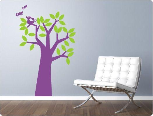 Perfect Wandtattoo Baum zweifarbig Nr