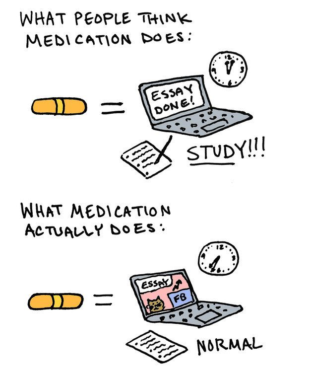 Medication helps, but it isn't a magic pill.