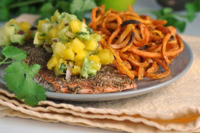 Jamaican Jerk Salmon with Fresh Mango Salsa (Whole30)   Weekly Menu