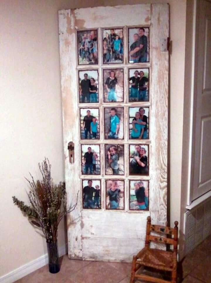 Picture frame from old french door. Love.
