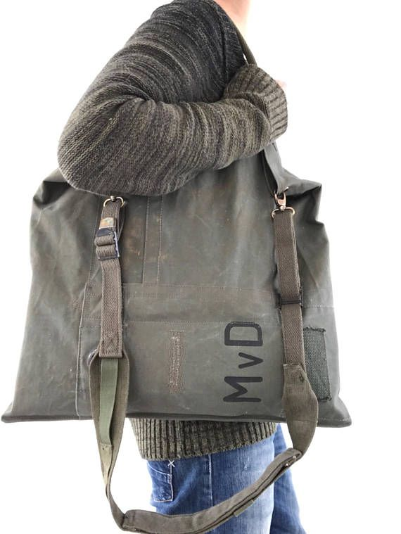 I recycled a few Dutch military duffel bag to make some tote 7310140f80caf
