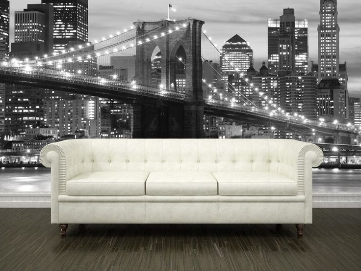 17 best images about bedroom wallpaper on pinterest for Brooklyn bridge wallpaper mural