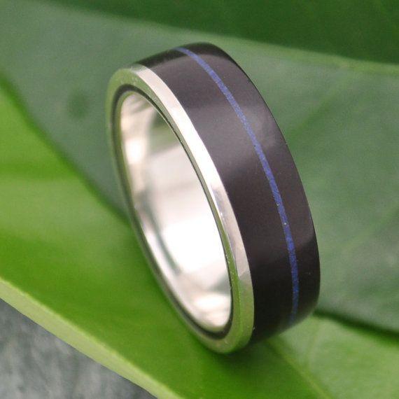 Lapiz Azul Wood Ring Un Lado Asi coyol seed by naturalezanica