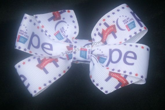 Relay for Life Hair Bow