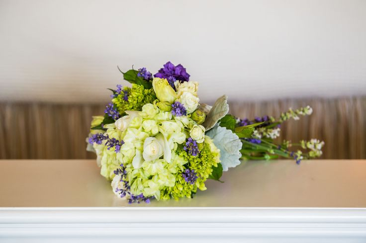 Green and Purple Rose and Mum Bouquet