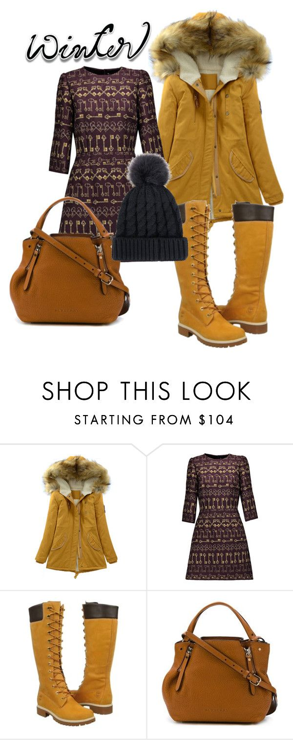 """Il vestito stampato"" by valentina-viola-1 ❤ liked on Polyvore featuring Dolce&Gabbana, Timberland and Burberry"