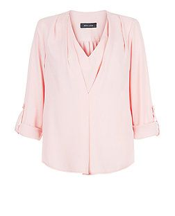 Pink Layered V Neck Shell Top  | New Look
