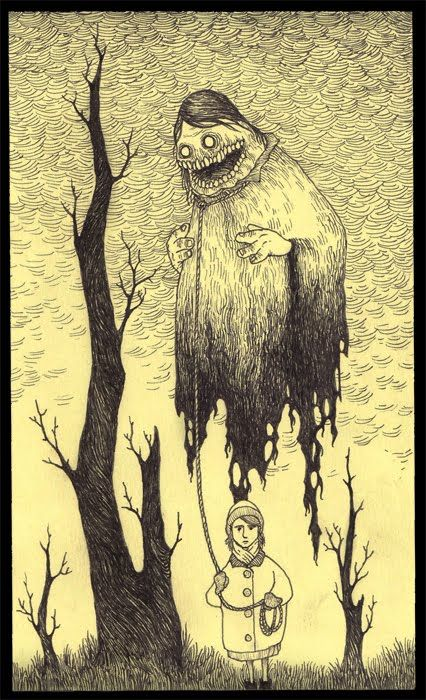 So I just found out about this artist named John Kenn, who is really awesome. His stuff is really creepy, but I can't stop looking at it.