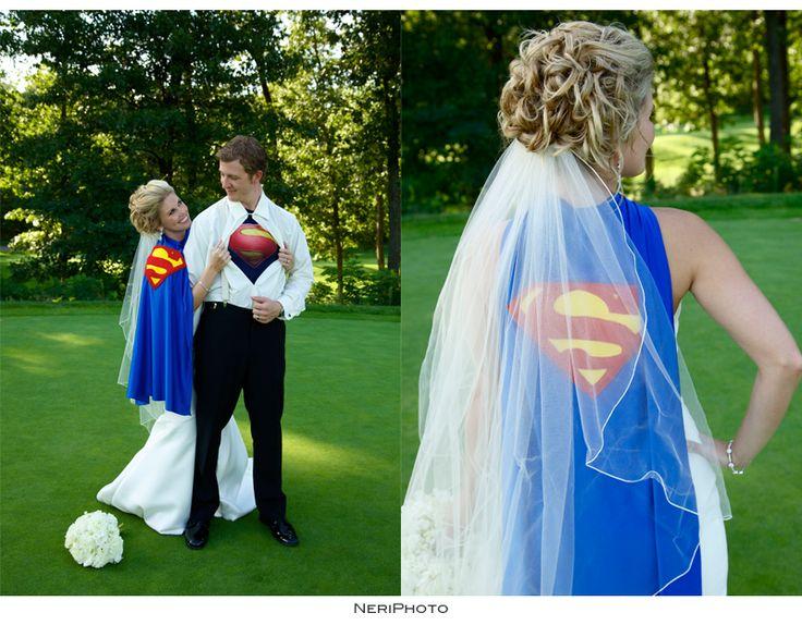 Superman wedding couple #supercouple #wedding