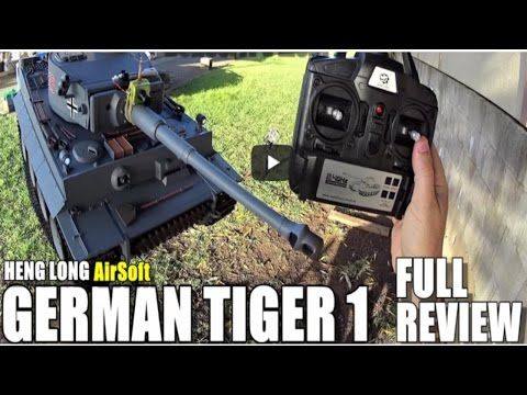 The Best review product GearBest: HENG LONG GERMAN TIGER 1 AIRSOFT 1׃16 RC Tank   Fu...