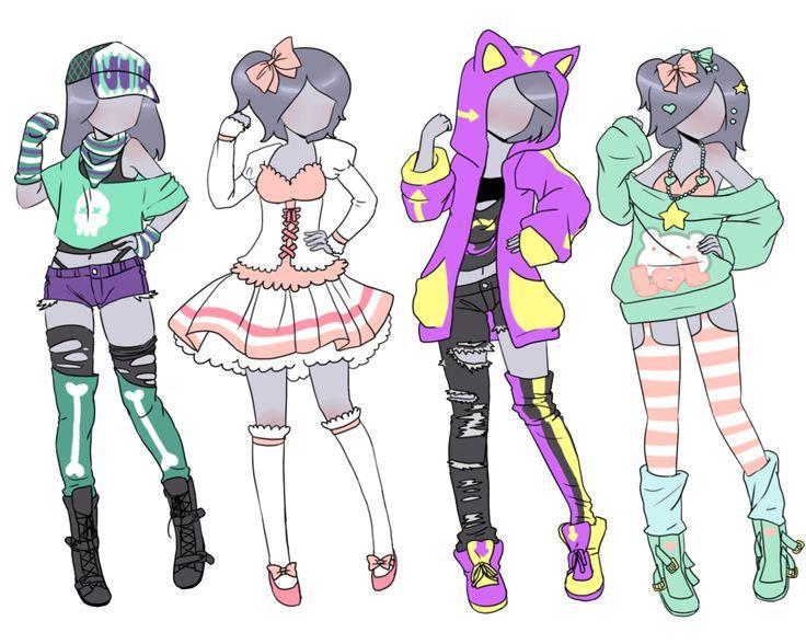 Resultado de imagen para anime clothes drawing