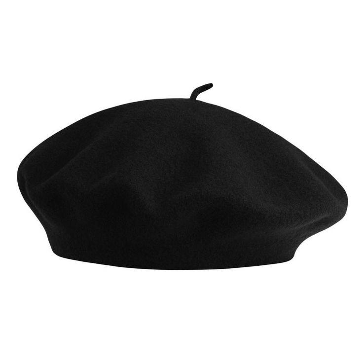 Betmar French Beret - BLACK