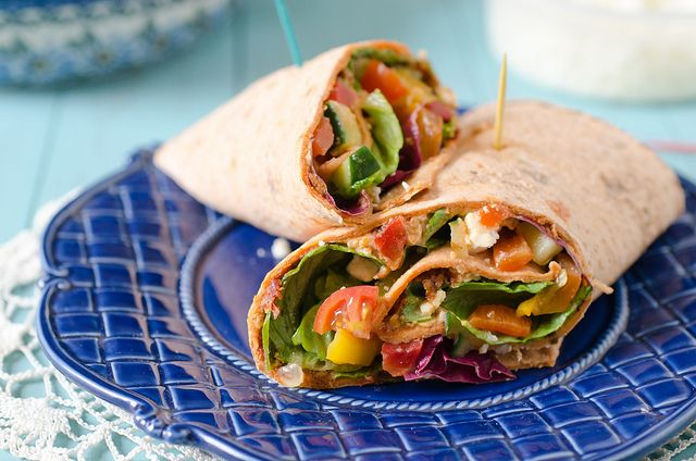 r flatbread, into a mouthful of flavor, then you will absolutely love this. The wrap is filled with fresh ingredients and a zingy pesto, then finished off with a sprinkle of my favorite…feta cheese. And, if you have all of the ingredients on hand, you can easily put this together for a fast