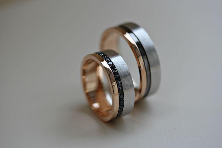 Кольца с бриллиантами и чёрным родием 20B582