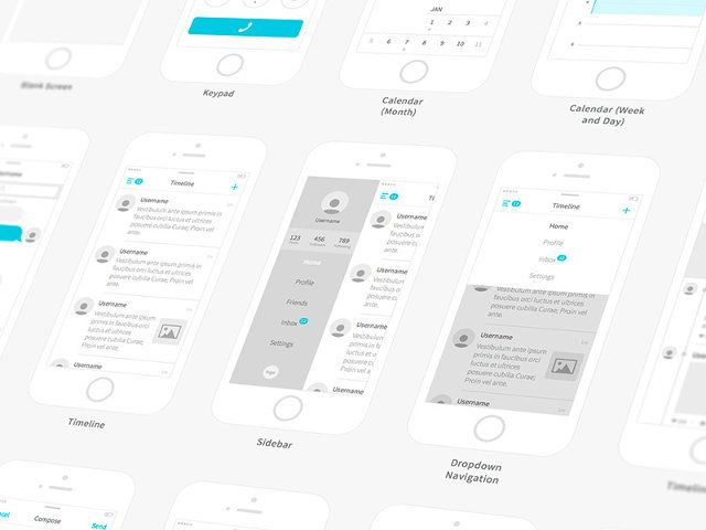 Wireframe grey & blue (& awesome)