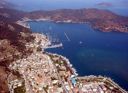 Fethiye new town and harbour