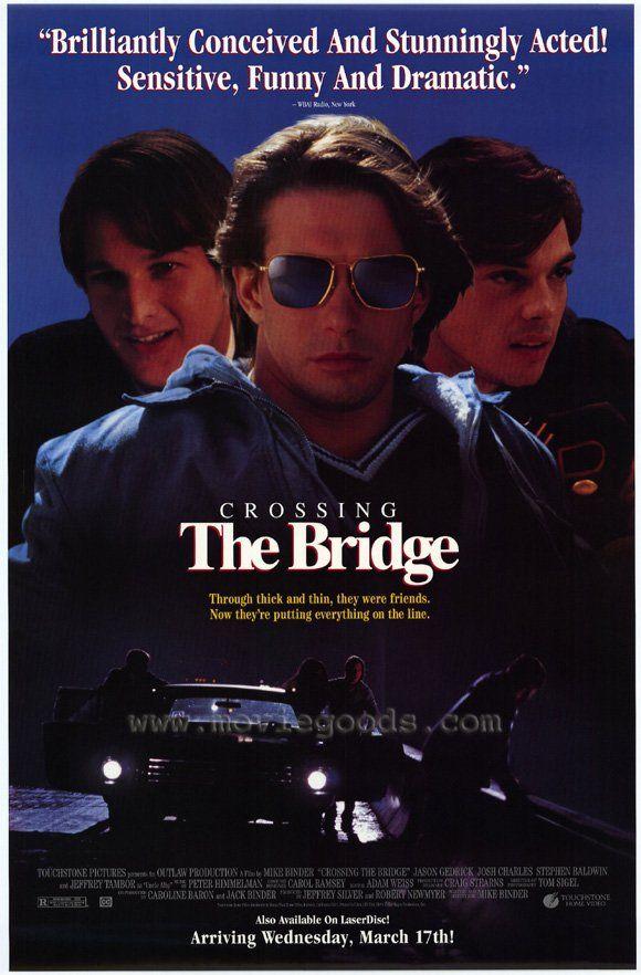 Crossing the Bridge , starring Josh Charles, Jason Gedrick, Stephen Baldwin, Cheryl Pollak. The adventures of three teenage friends in 1970s Detroit. #Comedy #Drama
