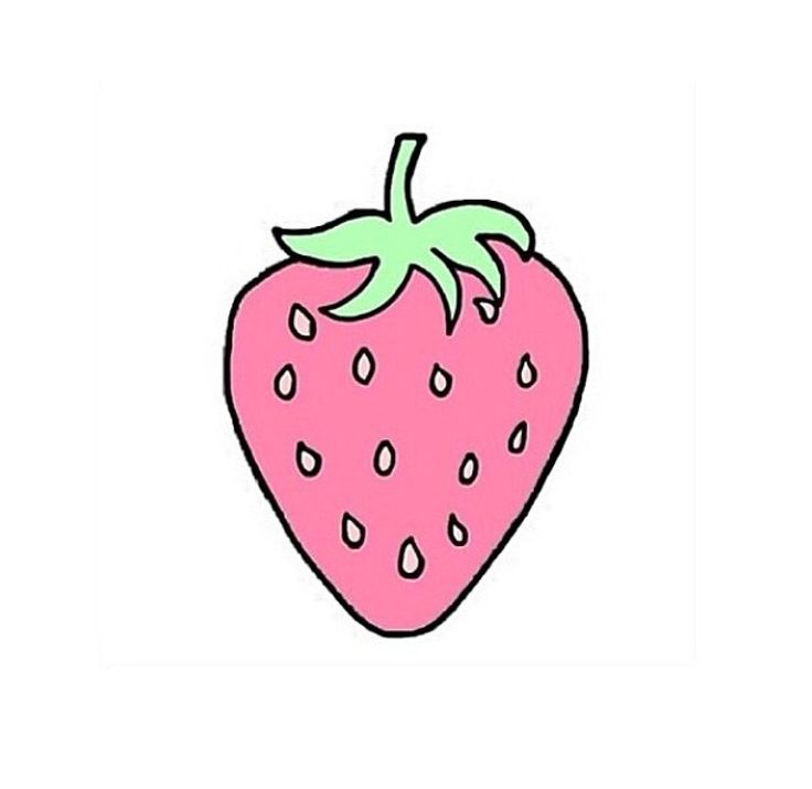 strawberry pastel overlays pinterest tumblr and