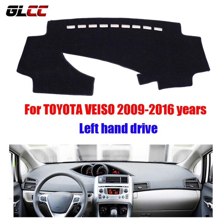 Car Dashboard Cover Mat For Toyota Veiso 2009 2016 Years Left Hand Drive Dashmat Pad Dash Mat