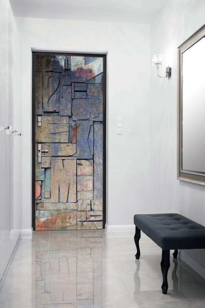 ▷ 1001 + idées petit budget de décoration de porte intérieure DIY - Oeil De Porte D Entree