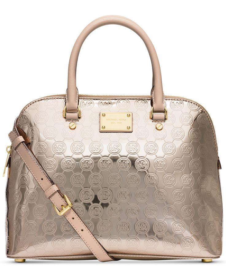 MICHAEL Michael Kors Cindy Large Dome Signature Satchel - MICHAEL Michael  Kors - Handbags \u0026 Accessories