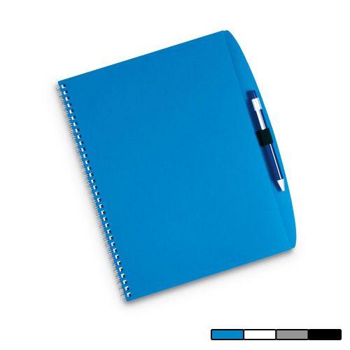 Cuaderno Argento. A4 de 70 páginas con bolígrafo incluido. Disponible en 4 colores. Desde 2,5 Euros en www.areadifusion.com