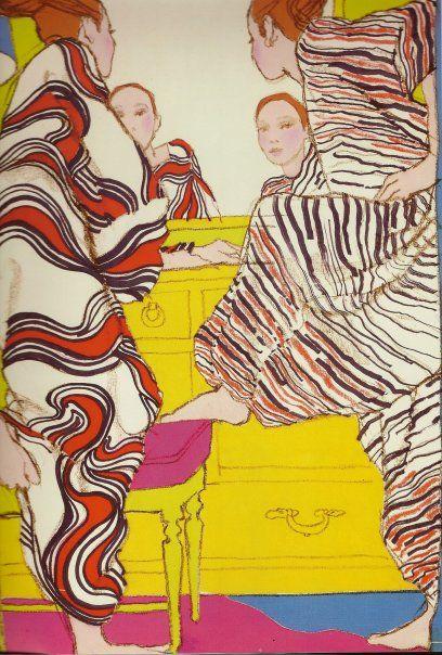 60's - by Antonio Lopez Antonio Lopez #Illustration, fashion illustration, fashion, art, illustration, drawing, painting